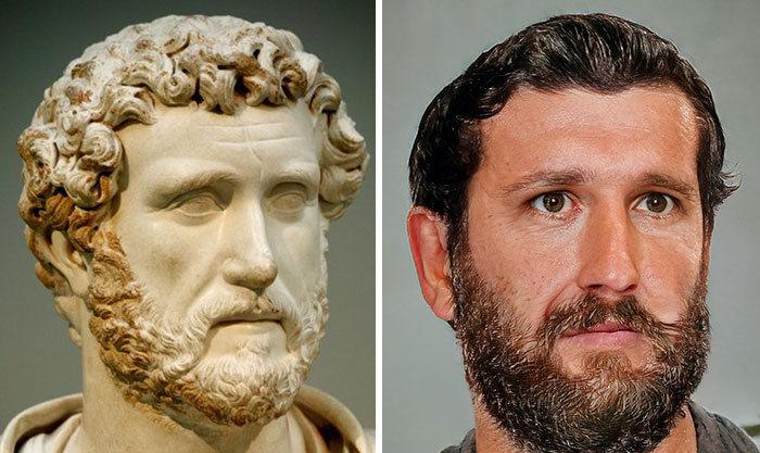 Artista mostra como os imperadores romanos eram na vida real 21
