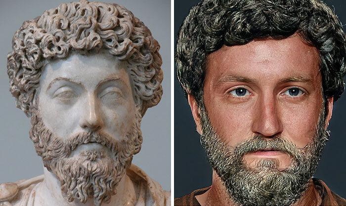 Artista mostra como os imperadores romanos eram na vida real 22