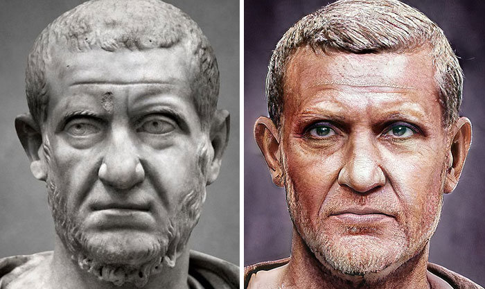 Artista mostra como os imperadores romanos eram na vida real 24