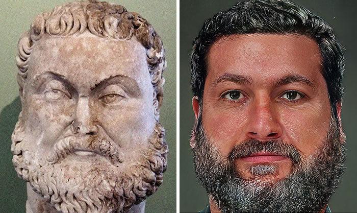 Artista mostra como os imperadores romanos eram na vida real 25