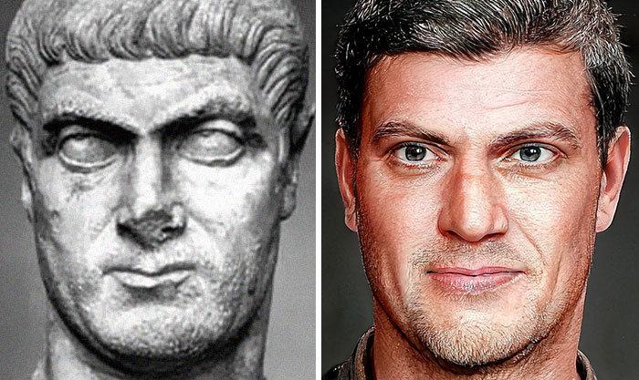 Artista mostra como os imperadores romanos eram na vida real 26