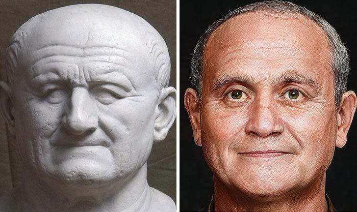 Artista mostra como os imperadores romanos eram na vida real 27