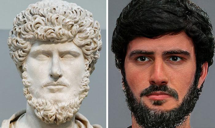 Artista mostra como os imperadores romanos eram na vida real 29