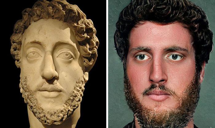 Artista mostra como os imperadores romanos eram na vida real 30