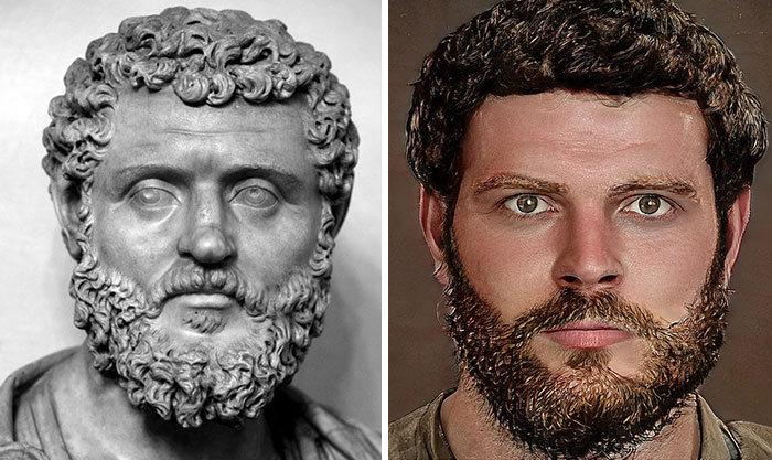 Artista mostra como os imperadores romanos eram na vida real 31