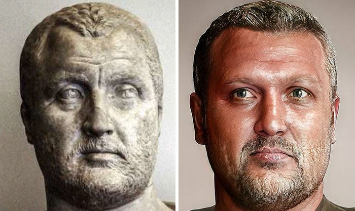 Artista mostra como os imperadores romanos eram na vida real 32