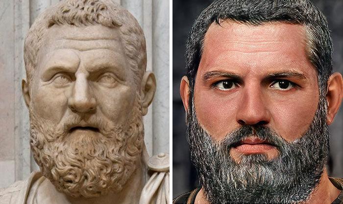 Artista mostra como os imperadores romanos eram na vida real 33