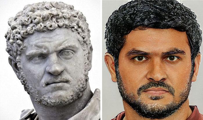 Artista mostra como os imperadores romanos eram na vida real 34
