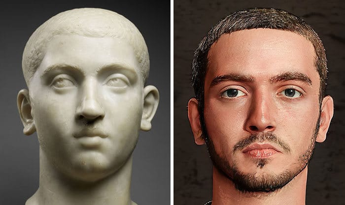 Artista mostra como os imperadores romanos eram na vida real 36