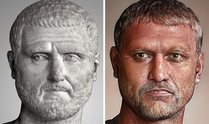Artista mostra como os imperadores romanos eram na vida real 37