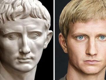 Artista mostra como os imperadores romanos eram na vida real 35