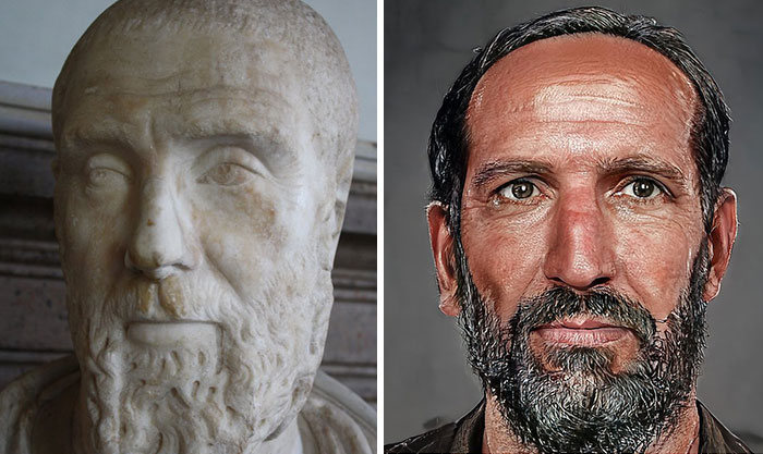 Artista mostra como os imperadores romanos eram na vida real 38