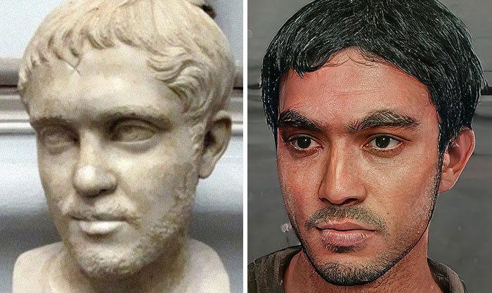 Artista mostra como os imperadores romanos eram na vida real 39