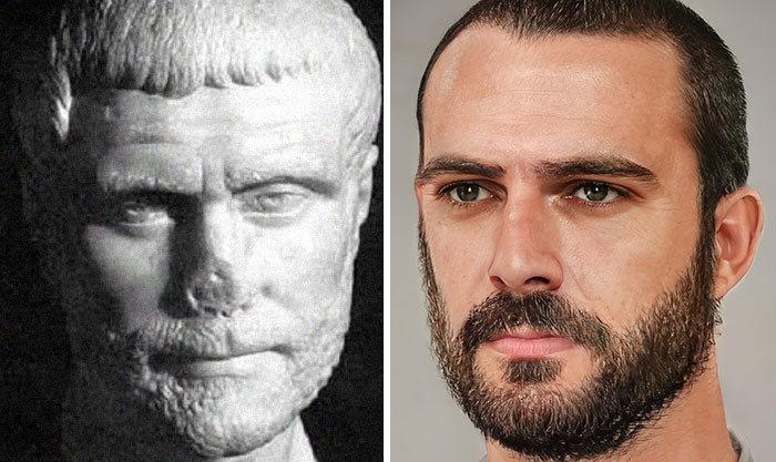 Artista mostra como os imperadores romanos eram na vida real 40