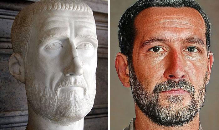 Artista mostra como os imperadores romanos eram na vida real 41