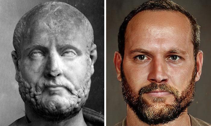 Artista mostra como os imperadores romanos eram na vida real 42