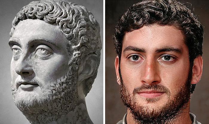 Artista mostra como os imperadores romanos eram na vida real 43