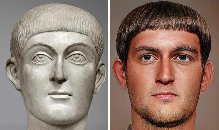 Artista mostra como os imperadores romanos eram na vida real 44