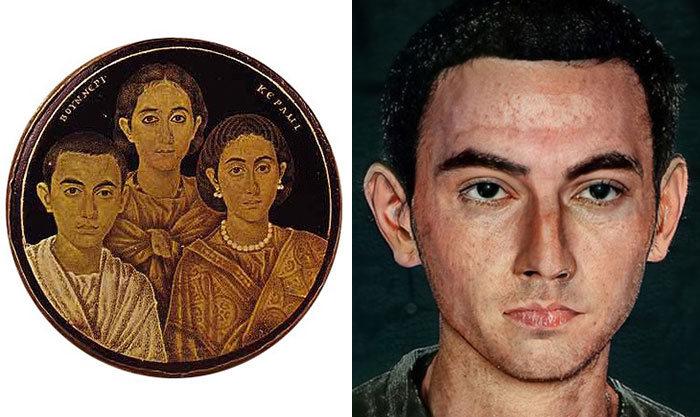 Artista mostra como os imperadores romanos eram na vida real 45