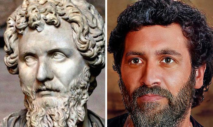 Artista mostra como os imperadores romanos eram na vida real 46