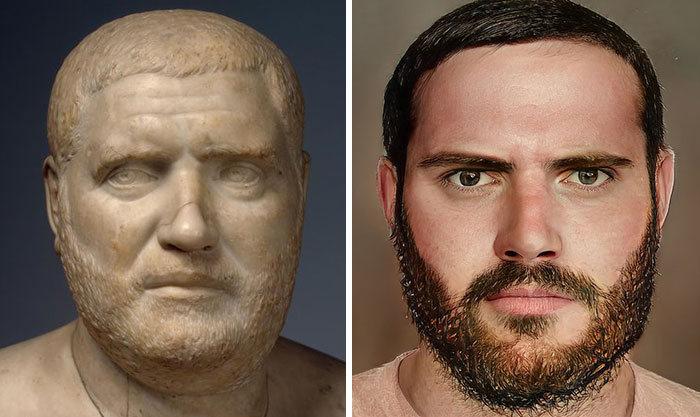 Artista mostra como os imperadores romanos eram na vida real 47
