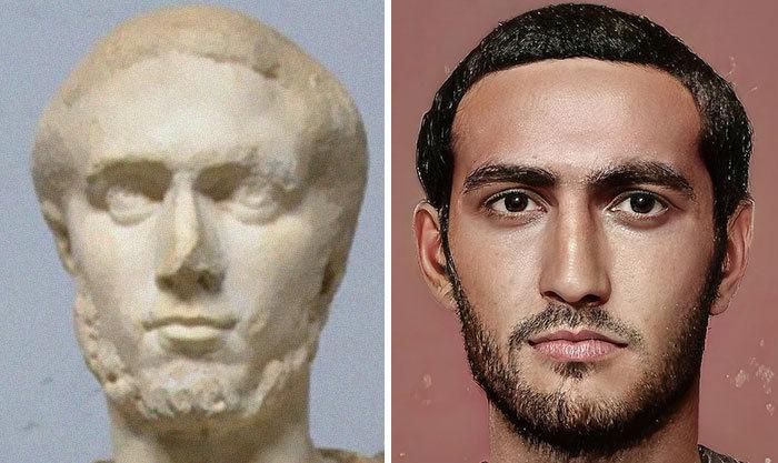 Artista mostra como os imperadores romanos eram na vida real 48