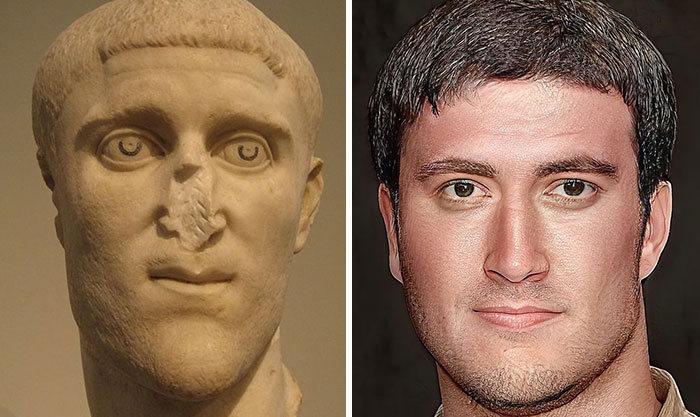 Artista mostra como os imperadores romanos eram na vida real 49