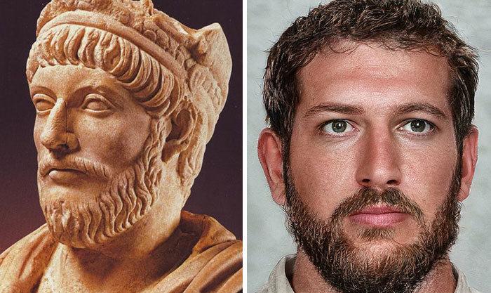 Artista mostra como os imperadores romanos eram na vida real 50