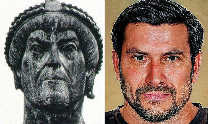 Artista mostra como os imperadores romanos eram na vida real 51