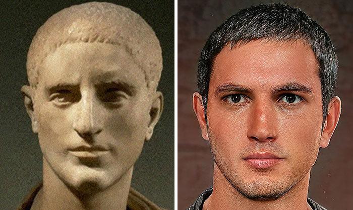 Artista mostra como os imperadores romanos eram na vida real 52
