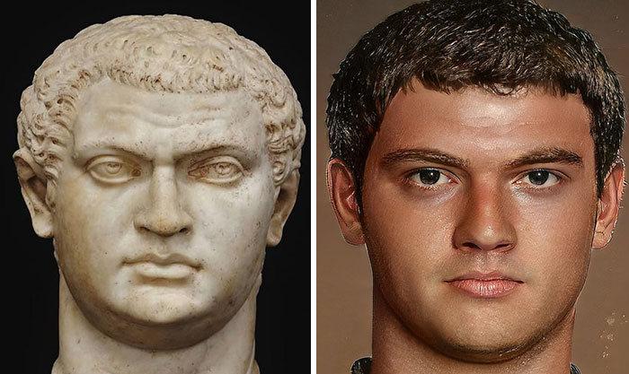 Artista mostra como os imperadores romanos eram na vida real 53