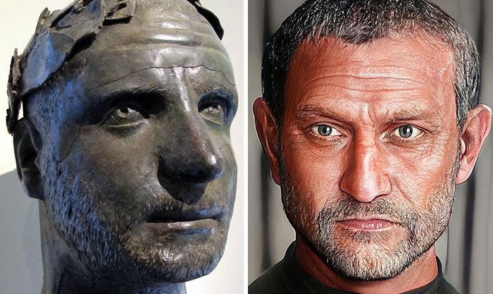 Artista mostra como os imperadores romanos eram na vida real 55