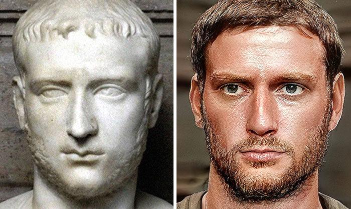 Artista mostra como os imperadores romanos eram na vida real 56