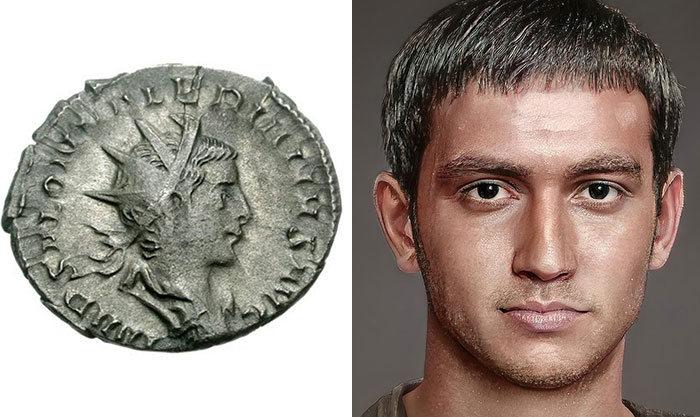 Artista mostra como os imperadores romanos eram na vida real 57