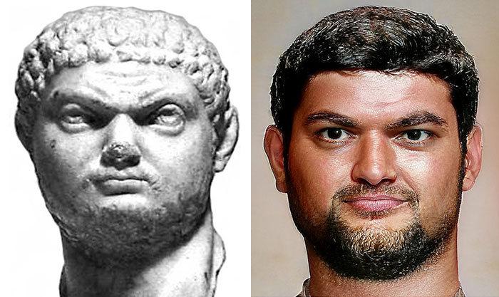 Artista mostra como os imperadores romanos eram na vida real 58