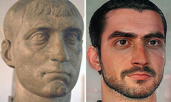Artista mostra como os imperadores romanos eram na vida real 59