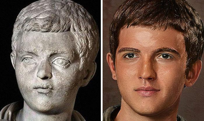 Artista mostra como os imperadores romanos eram na vida real 61