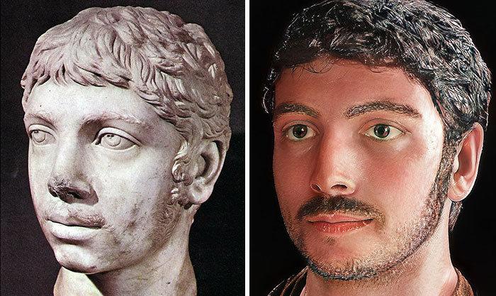 Artista mostra como os imperadores romanos eram na vida real 62