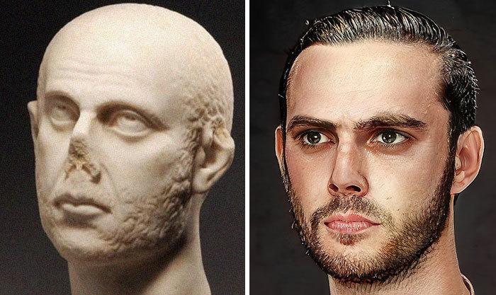 Artista mostra como os imperadores romanos eram na vida real 63
