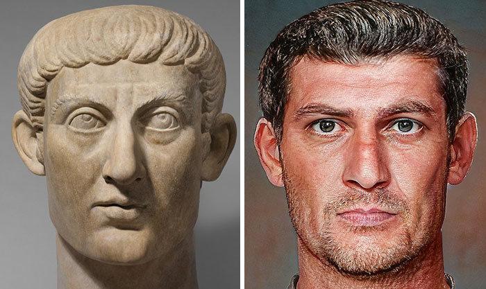 Artista mostra como os imperadores romanos eram na vida real 64