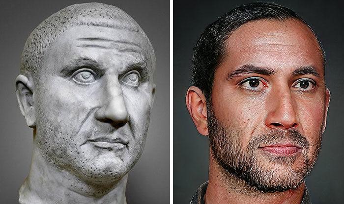 Artista mostra como os imperadores romanos eram na vida real 65