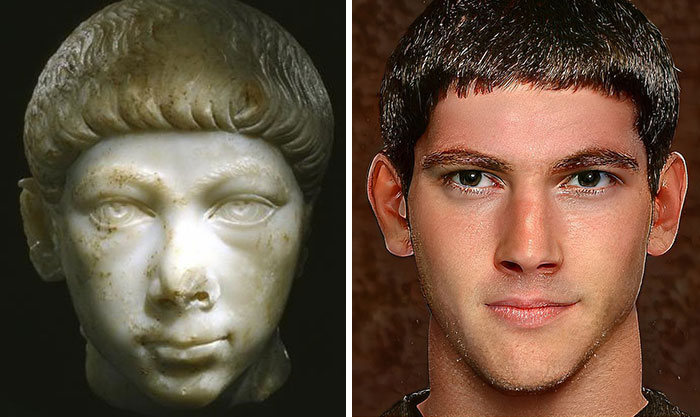 Artista mostra como os imperadores romanos eram na vida real 67