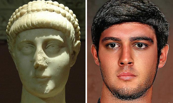 Artista mostra como os imperadores romanos eram na vida real 68