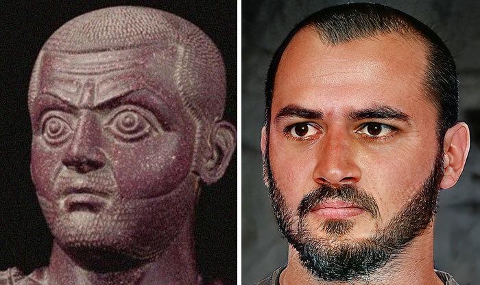 Artista mostra como os imperadores romanos eram na vida real 69