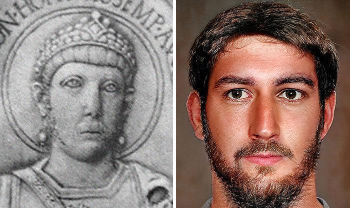 Artista mostra como os imperadores romanos eram na vida real 70