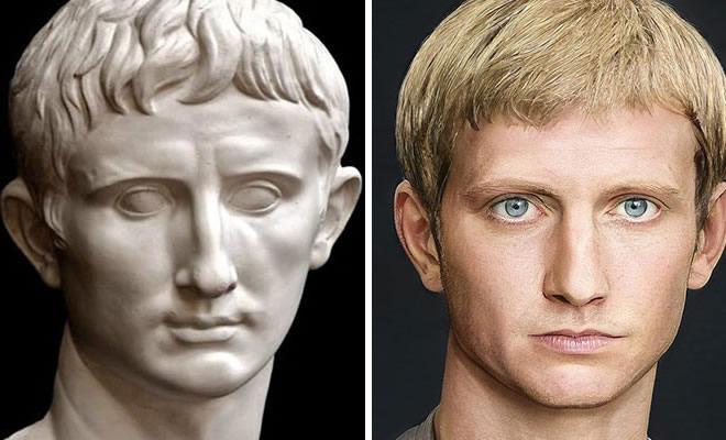 Artista mostra como os imperadores romanos eram na vida real 23