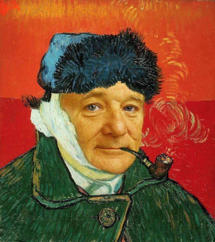 Artista reimagina pinturas icônicas com o rosto de Bill Murray 5