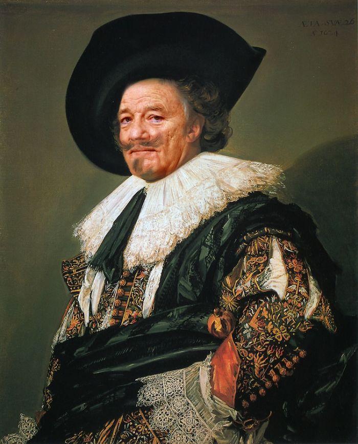 Artista reimagina pinturas icônicas com o rosto de Bill Murray 6