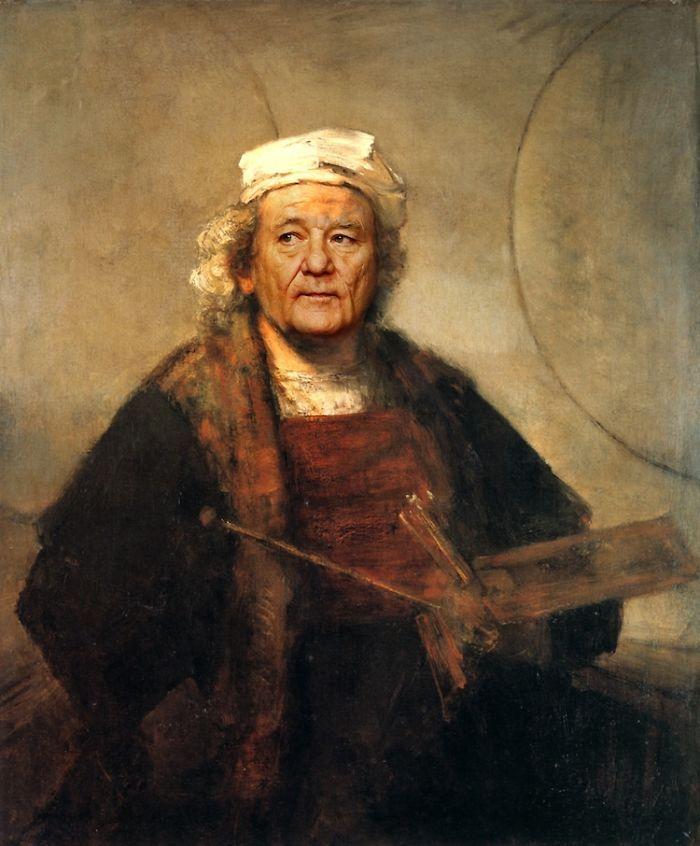 Artista reimagina pinturas icônicas com o rosto de Bill Murray 9