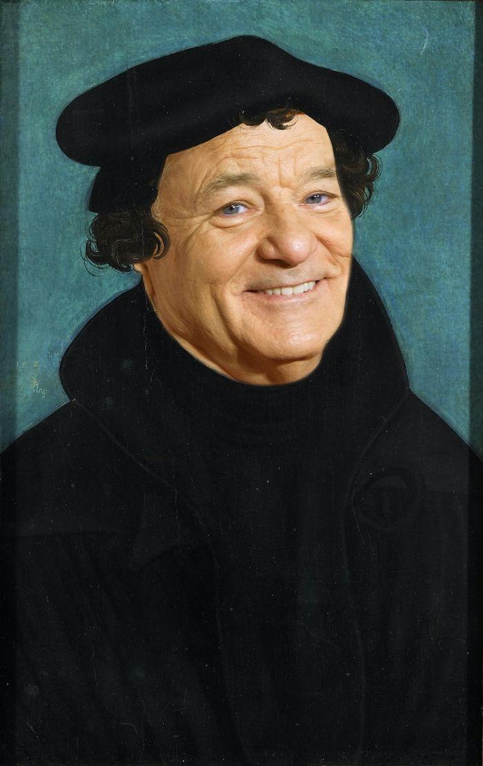 Artista reimagina pinturas icônicas com o rosto de Bill Murray 11